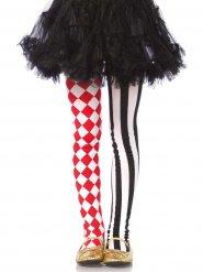Tweekleurige harlekijn panty voor meisjes