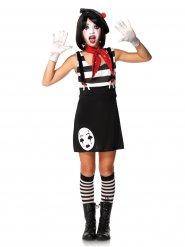 Klassieke mime jurk kostuum voor tieners