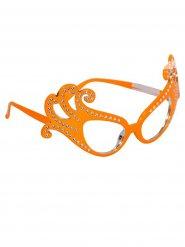 Oranje bril met strass