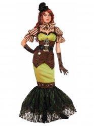 Zeemeermin Steampunk kostuum voor vrouwen