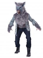 Grijs weerwolf kostuum voor volwassenen