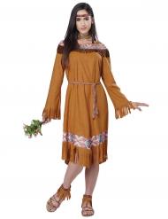 Bruin western indianen kostuum voor vrouwen