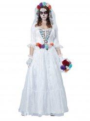 Halloween skelet bruid kostuum voor vrouwen