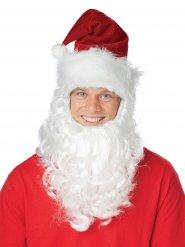 Kerstman muts met witte baard