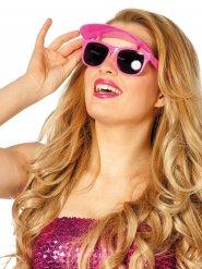 Roze bril met klep voor vrouwen