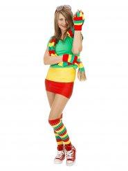 Driekleurige sportieve sokken voor vrouwen