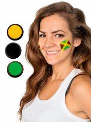 Gele groene en zwarte Jamaica schmink set