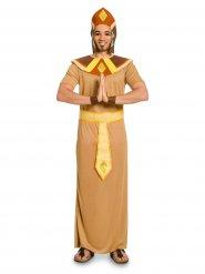 Bruine en gele Egyptische farao outfit voor mannen
