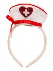 Verpleegster hoed op haarband voor volwassenen