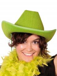 Groene cowboyhoed voor volwassenen