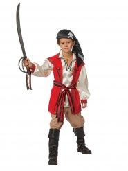 Rood en beige piraat kostuum voor kinderen