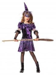 Paars met zwart heksen kostuum Halloween voor meisjes