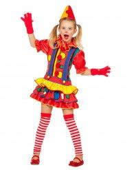Veelkleurig clown kostuum voor meisjes