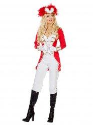 Wit met rood dansmarieke kostuum voor vrouwen