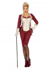 Rode stijlvolle barok outfit voor vrouwen
