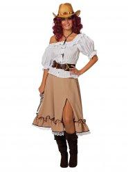 Beige cowgirl rok voor vrouwen