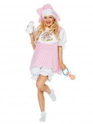 Roze en wit baby kostuum voor vrouwen