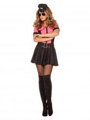 Sexy zwart en roze politie kostuum voor vrouwen