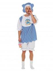 Blauw baby kostuum voor volwassenen