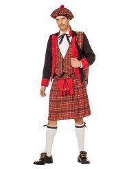 Rood Schots kostuum voor mannen
