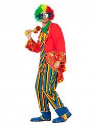 Veelkleurig clown kostuum voor volwassenen