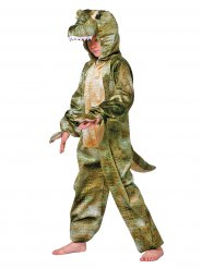 Groene krokodil outfit met opdruk voor kinderen