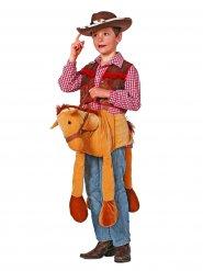 Cowboy op paard kostuum voor kinderen