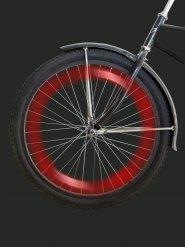 Rood fietswiel LED lampje