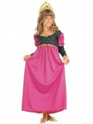 Roze middeleeuwse prinses kostuum voor meisjes