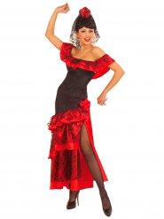 Spaanse flamenco danseres kostuum voor vrouwen