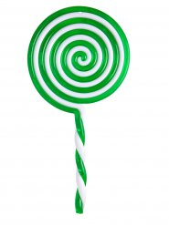 Groene plastic lolly