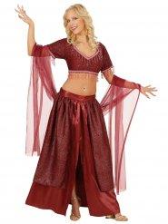 Rode oriëntaalse danseres outfit voor dames