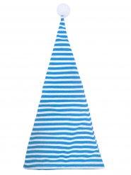 Blauw wit gestreepte muts voor volwassenen
