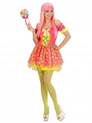 Kleurrijk candy fee kostuum voor vrouwen