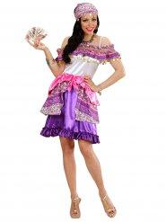 Paars en roze zigeuner kostuum voor vrouwen