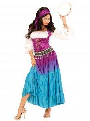 Veelkleurig zigeuner kostuum voor vrouwen