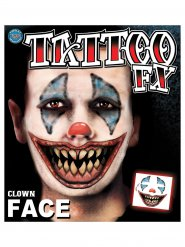 Angstaanjagende clown tatoeages