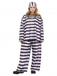 Gevangene kostuum voor volwassenen plus size
