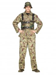 Khaki soldaat kostuum voor mannen