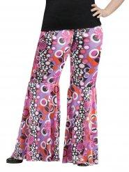 Flower Power hippie broek - Grote Maten