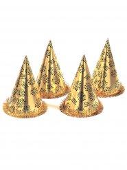 Goudkleurige Oud en Nieuw hoed