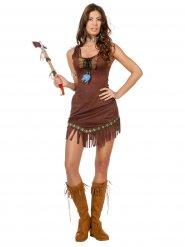 Miss Poca sexy bruin indianen kostuum voor vrouwen