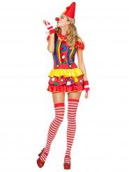 Harlekijn clown kostuum voor vrouwen