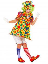 Veelkleurig circus clown kostuum voor vrouwen