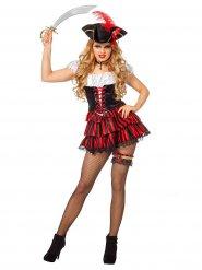 Sexy rood piraten kostuum voor vrouwen