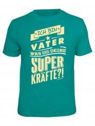 Turquoise Ich bin vater t-shirt voor volwassenen
