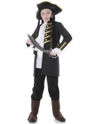 Zwart piratenkostuum voor kinderen