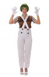 Chocoladewinkel medewerkster kostuum voor vrouwen