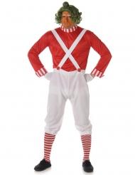 Rood wit chocolatier kostuum voor mannen