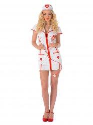 Sexy hearts verpleegster kostuum voor vrouwen